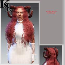 luna red horns