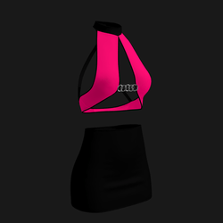 Leera Clubbing Outfit 09 (Neon Pink/Black)