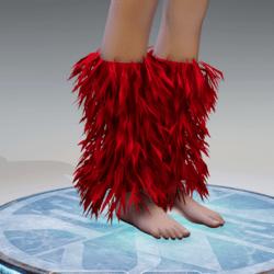 GoGo Dancer Furry Legwarmers RED