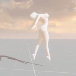 Statue Female Dance Pose