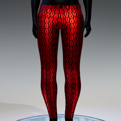 Coffin Cross Metallic Skinny Jeans [Red]