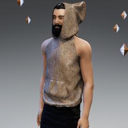 'Headspace' Abstract (ε) Sleeveless Hoodie - Unisex
