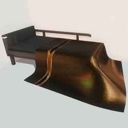 Modern bed - gld