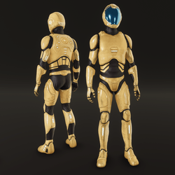 Space suit NC 2020 yellow