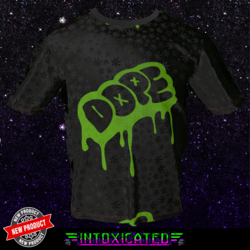 [INTOXICATED] Dope Drip T shirt Neon Green