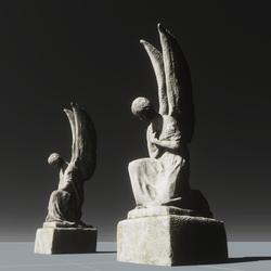 Pair of angel statues