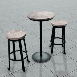 Bar Table and Stool Set | Reclaimed Wood