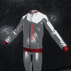 Jacket Chrome silver red