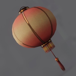 Lantern (red) animated