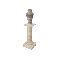 Ancient Vessel on Pillar