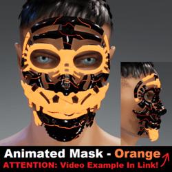 Animated Mask: Orange - Male Avatars