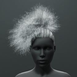 Reggie - Curly Ponytail Puff Hair