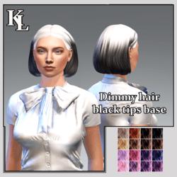 Dimmy hair-black tips
