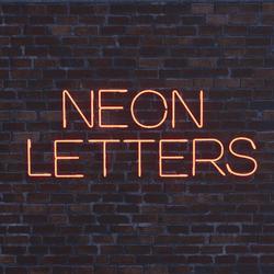 Letter V - Neon Letters