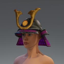 Samurai Helmet - Pink/Gold
