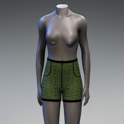 Psychedelic High-Waist Shorts 7