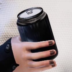 Bottle C in arm