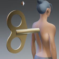 Clockwork key spin