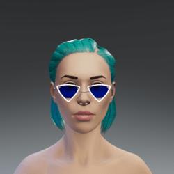 Flashing blue sunglasses