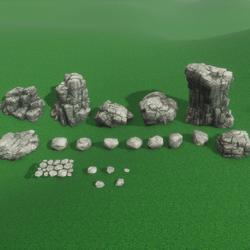 Rocks-Boulders Set
