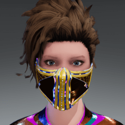 SCIFI MASK EMISSIVE YELLOW ANMATED