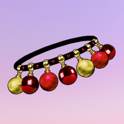 Ornaments Choker Red-Gold