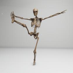 Jazz Dancing skeleton