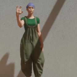 salute animation female