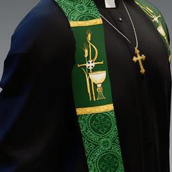 Green liturgical stole