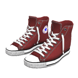 Girl shoes San-Star sneakers high red for woman