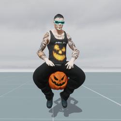 Pumpkin Float Sit Animation