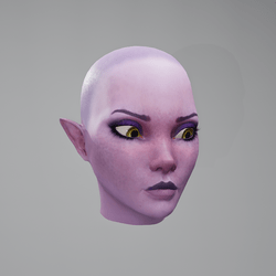 Vinx's Head Upset (Eyes Yellow)