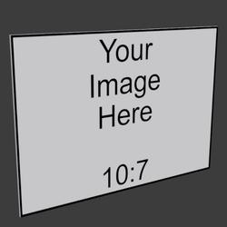 10x7 Frameless Image Panel