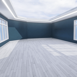Skybox - Blue and White - The Little Room With Ceiling Lamp