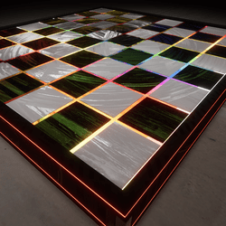 checker board / dance floor  plus animated light