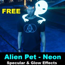 Free Gift - Alien Pet - Neon Blue