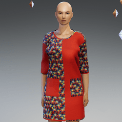 Short Red Ankara Gown