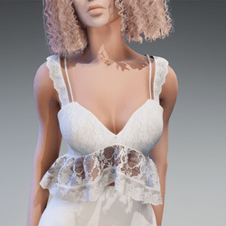 Lace Summer Top in White