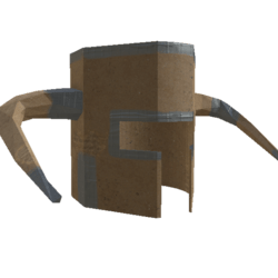 Cardboard helmet female