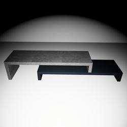 Cliff Tv-Table - Black/Dark Concrete gray