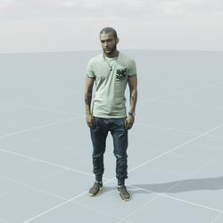 Duke standing 3D scan static model
