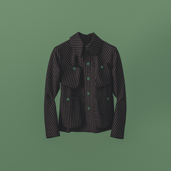 Atacac Studio Jacket Striped
