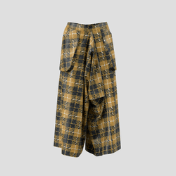 Trailblazing Pants black and yellow checked