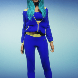 Blue n Yellow Jogging Suit