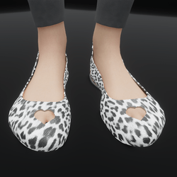 Dollys White and Black Fur Print (TM)