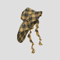 Trailblazing Hat black and yellow checked