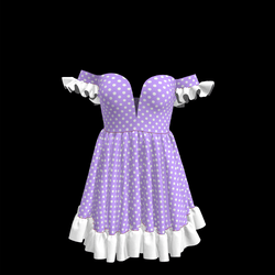 Baby Doll Vintage Polka Dot Dress 05