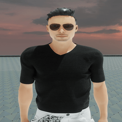[URBAN FRESH] Mens Clean V neck shirt Black