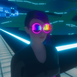 UNISEX_ PARTY_ GLASSES_ EQUALIZER V2  BLINKING AROUND  ANIMATED EMISSIVE