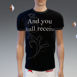 And you shall receive Black Athletic Shirt - Male